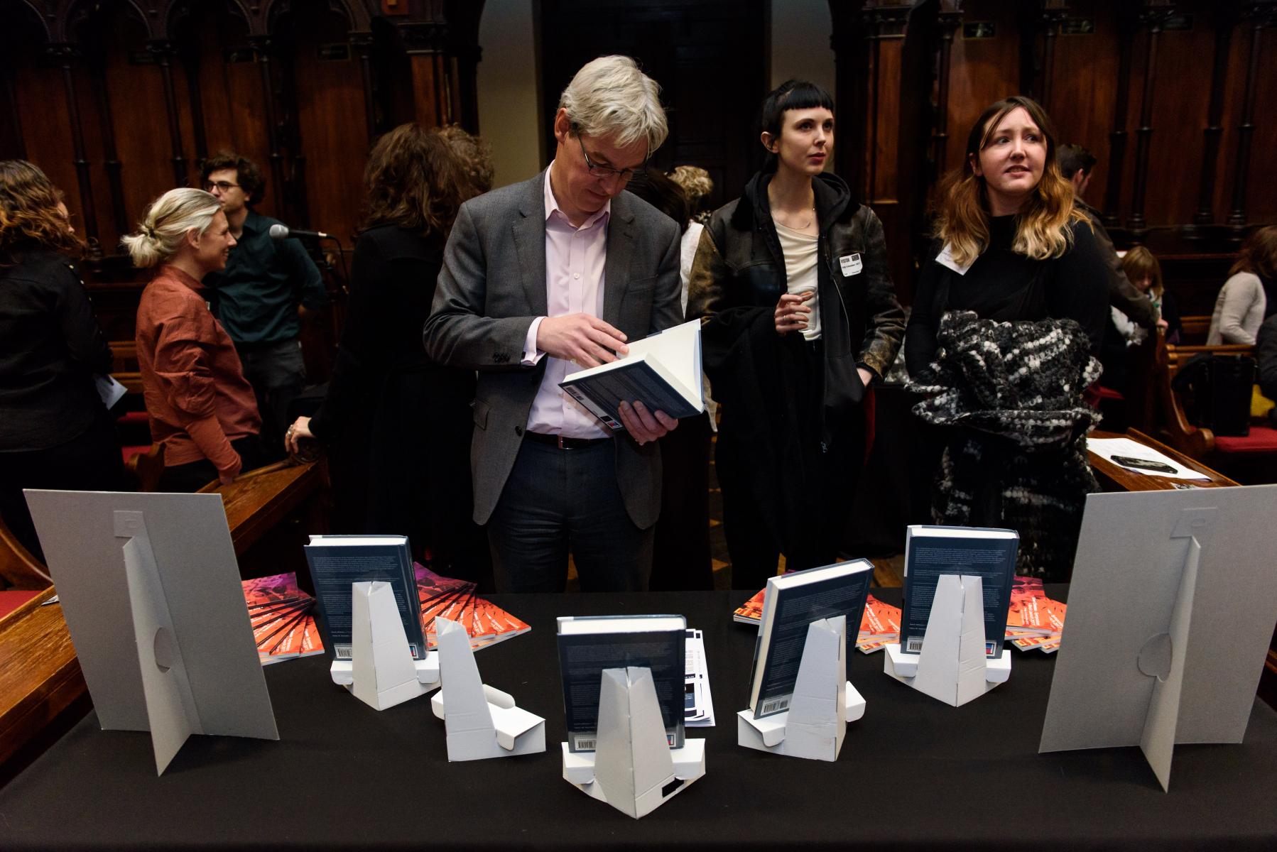 Live Cinema Book Launch at King's College London.  15.12.17  ©Richard Eaton