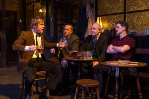 Mooney (Johnny Flynn), Bill (Tony Hirst), Arthur (Simon Rouse) and Charlie (Ryan Pope). Photo by Helen Maybanks